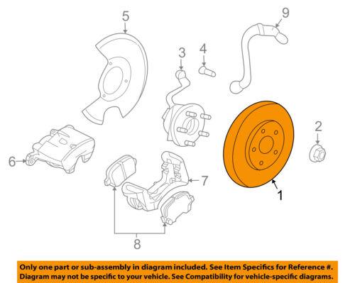 GM OEM Front Brake-Disc Rotor 19303825