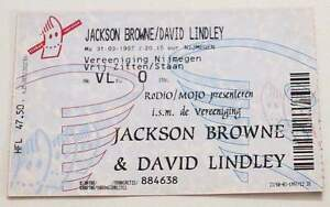 JACKSON BROWNE / DAVID LINDLEY : billet ticket concert HOLLAND 31/03/1997 - France - JACKSON BROWNE / DAVID LINDLEY : billet ticket concert HOLLAND 31/03/1997 Original used ticket Ticket original et utilisé collectionner Excellent état / Excellent condition Rare ! trs propre / Rare and very clean item Envoi rapide et soigné - France