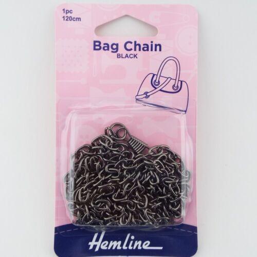 Hemline 120cm Purse Handbag Bag Metal Chain With Clips Repair Easy Fix BUY 1 2