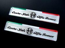 2 X ALFA ROMEO CENTRO STILE ITALIA  BADGES EXTERIOR GIULIETTA MITO 147 BRERA ETC