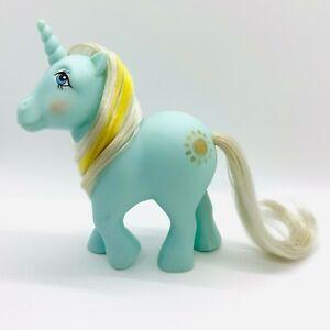 Vintage-G1-My-Little-Pony-1983-Unicorn-Aqua-MLP-Sunbeam-Amazing-Symbols