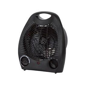 Konwin Black Compact Fan Heater 814645021609 Ebay
