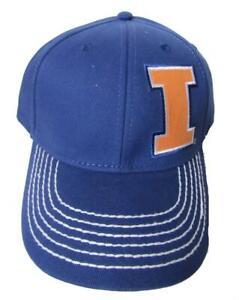 NEW Illinois Fighting Illini Mens OSFA Adjustable Blue Cap Hat