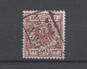 Dt-Reich-Mi-Nr-50a-50-Pfg-Adler-Krone-1889-gestempelt-geprueft-BPP-18704