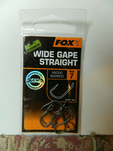 Fox Edges Hooks Size 7 Patterns Micro barbed