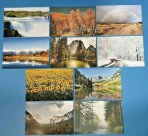 Set-of-10-NEW-Landscapes-Trees-water-amp-Flowers-Set-2-Postcards-for-Postcrossing