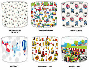 Lampshades-Ideal-To-Match-Children-s-Transportation-Bedding-Sets-amp-Duvet-Covers