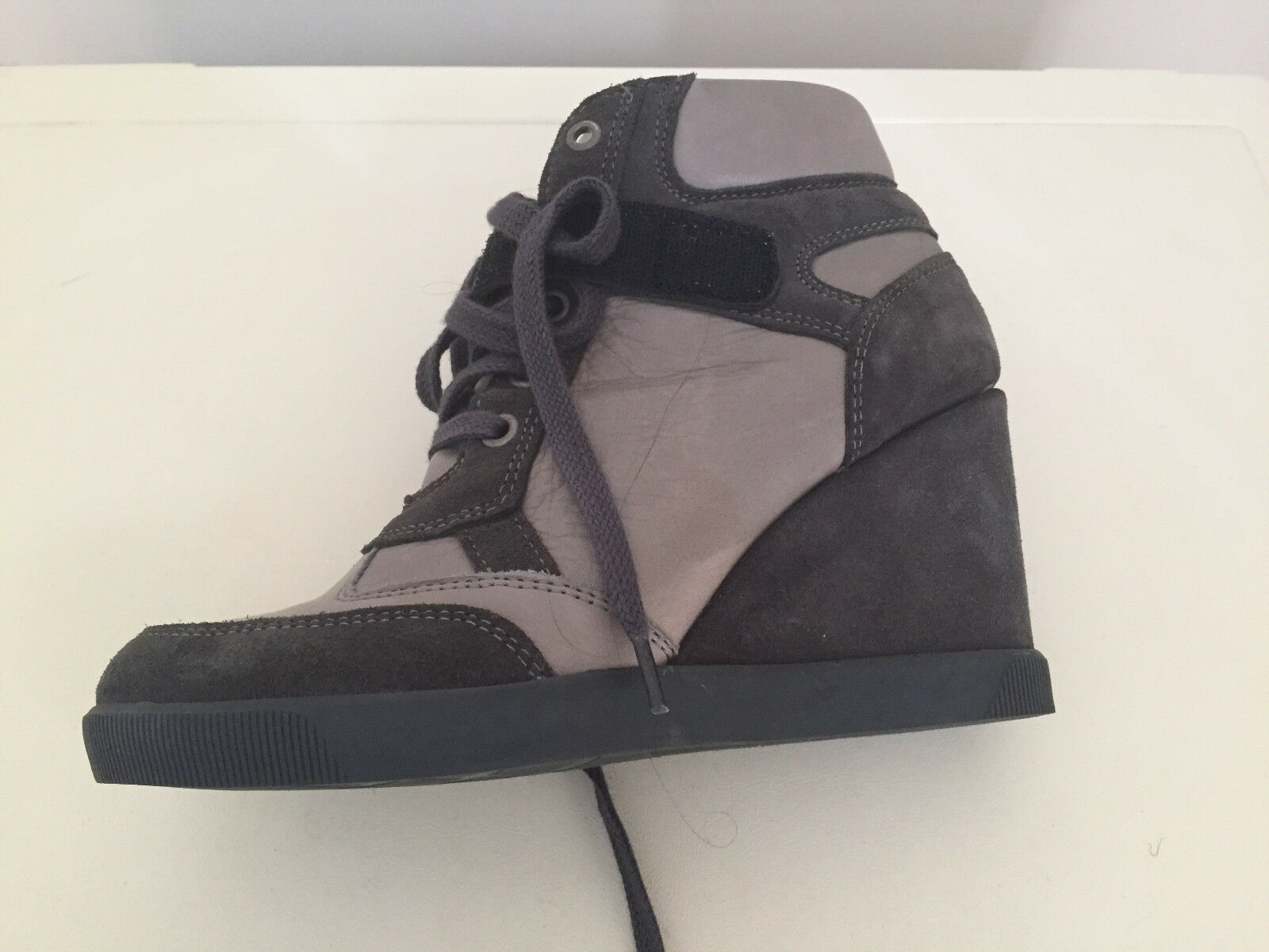 WOMEN MINELLI WEDGE HI TOP ANKLE SIZE LEATHER Stiefel SIZE ANKLE 5 a0485c