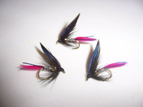 Golden Nugget Silver Butcher with Blue Flash WET flie size 12 by Salmoflies