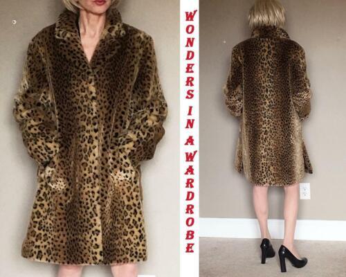 WORTHINGTON Leopard Print Faux Fur coat M