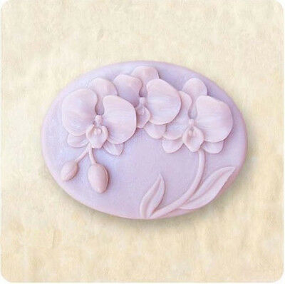 Orchid S103 Silicone Soap mold Craft Molds DIY Handmade soap mould