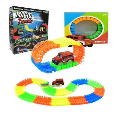 Stunt Track Car 56 pcs regalo gioco Magic Tracks pista componibile 165 pcs