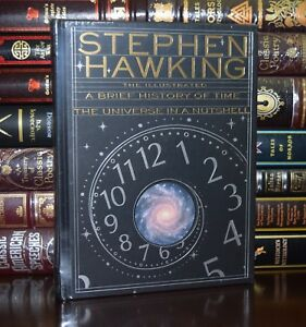 Details About Illustrated Brief History Of Time By Stephen Hawking New Sealed Leather Bound
