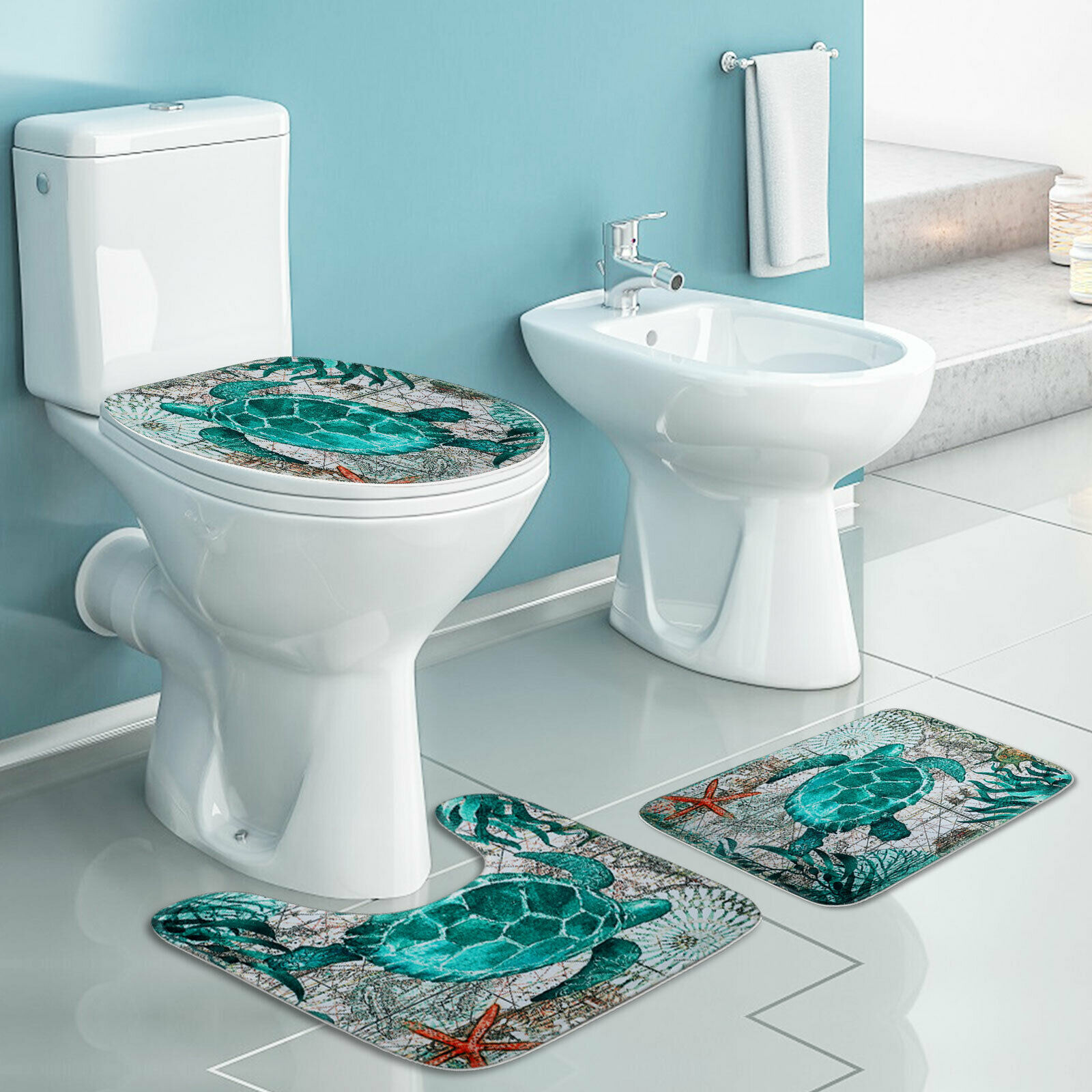 christmas bathroom decor blue