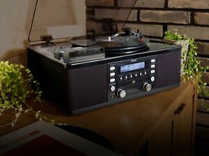 Teac-Turntable-with-CD-RECORDER-Cassette-Player-Aux-Input-amp-AM-FM-Radio