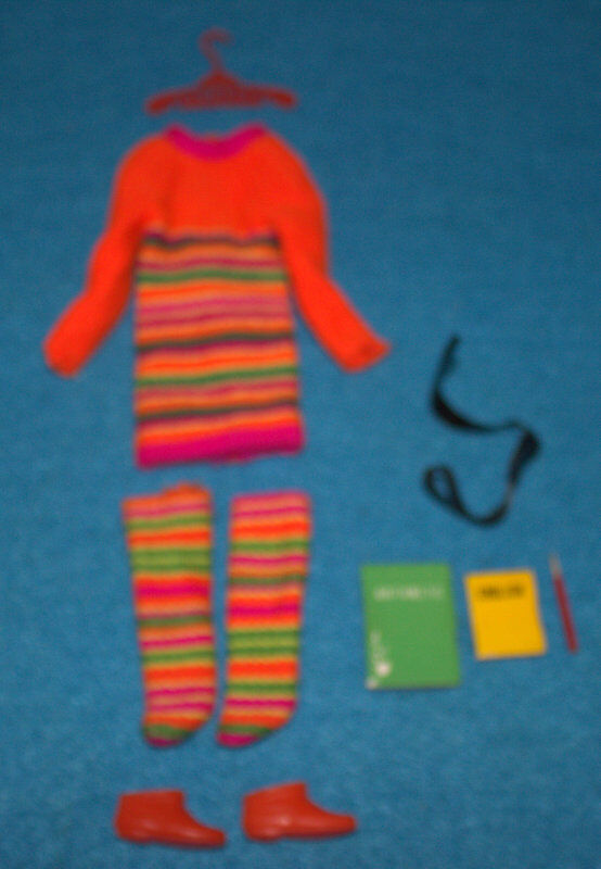 Vintage-Mattel-1968-Barbie-Skipper- Skimmy Stripes - 1956-Almost Complete Set