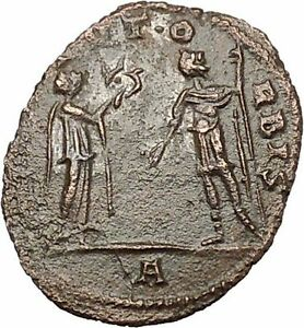 AURELIAN-receiving-wreath-from-woman-Authentic-Ancient-Roman-Coin-i40809