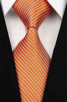 White Green Brown Black Red Blue New Striped Classic Silk Men's Tie Necktie