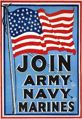 W73 Vintage Wwi Teufel hunden U.s Marines recruitiment Guerra Cartel Ww1 A1 A2 A3