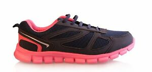 Ladies-Summer-Gym-Running-Walking-Light-Weight-Trainers-Lace-Up-Size-3-4-5-6-7-8