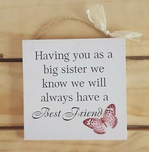 image is loading handmade plaque sign gift present little sister butterfly