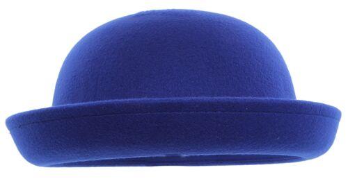 Baby Kids Girls Vogue Vintage Wool Cute Trendy Bowler Derby Hat Fedora Cap