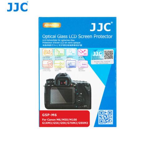 Vidrio óptico JJC LCD Protector de pantalla para CANON M6 M50 M100 G9X M2 G1X Mark III