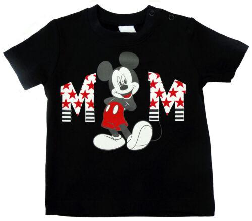 Disney Mickey Mouse T-Shirt Shirt Pulli Baumwolle schwarz Gr Neu 62 68 74