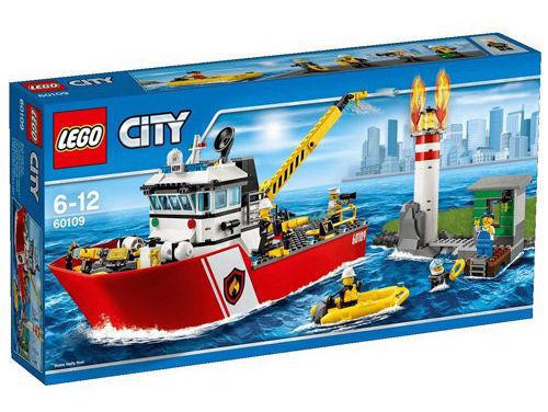 LEGO CITY MOTOBARCA ANTINCENDIO DEI POMPIERI 6-12 ANNI ART. 60109