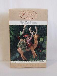 Hallmark-Keepsake-Ornament-Home-From-the-Woods-1995-Reindeer-Folk-Art-NIB-H15