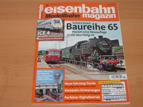 Eisenbahn Modellbahn Magazin 11 November 2016 Neuwertig!