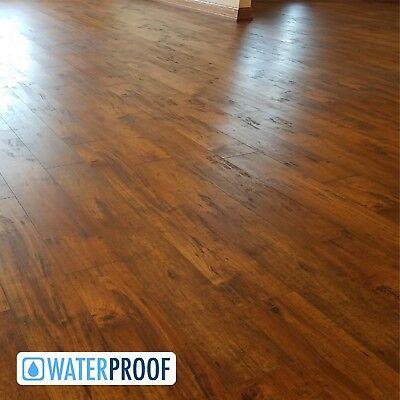 Turtle Bay Floors Ballard Grey Spalted Maple Plank Floating Laminate Flooring 12mm Sample