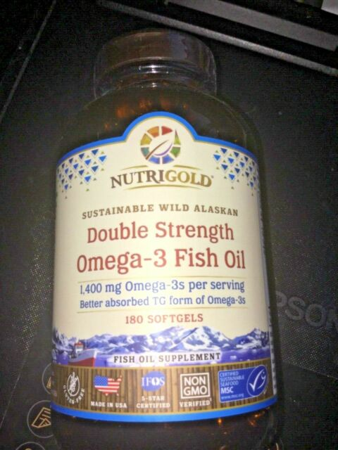 NEW! Nutrigold Double Strength Omega-3 Fish Oil 180 Softgels ($44.99)