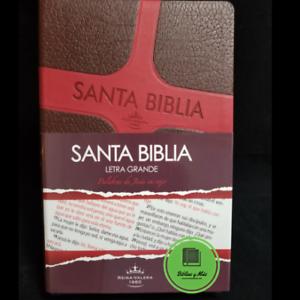 Biblia-Reina-Valera-1960-Letra-grande-duotono-cafe-rojo-Palabas-Jesus-en-Rojo
