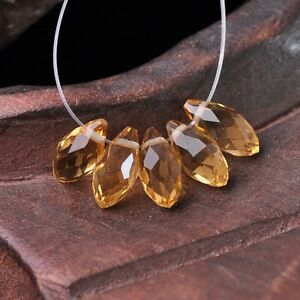 50pcs-12x6mm-Teardrop-Pendant-Faceted-Crystal-Glass-Loose-Beads-Champagne