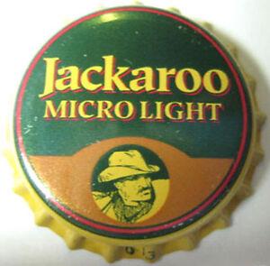 JACKAROO-MICRO-LIGHT-unused-Beer-CROWN-Bottle-Cap-Evansville-INDIANA-CLOSED