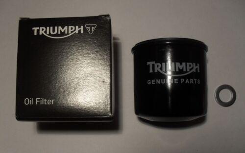 GENUINE TRIUMPH BONNEVILLE SE T100 T120 OIL FILTER with SUMP PLUG WASHER