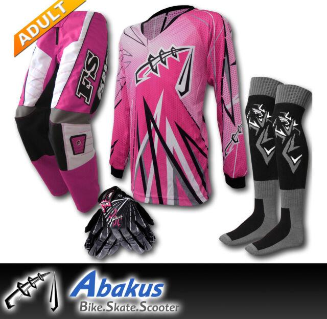 ADULT MX JERSEY+PANTS+GLOVES*PINK*Dirt Bike Gear/Off-road/Motocross/BMX/Quad/ATV