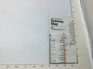 Rand Mcnally Nyc Subway Map 1990.Details About Original 1980 Ny York City Subway Map Aprox 22 X 28 Double Sided Unused