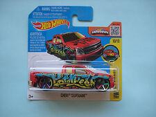 Diecast Hotwheels HW Art Cars Chevy Silverado Red on Blister