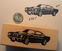 Mustang Car Rubber Stamp Wm 2.25 P10