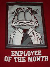 Garfield Employee of the Month Red Men's Tshirt T Shirt Med Medium M Work Award