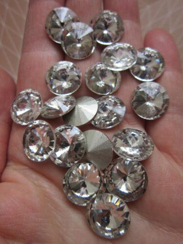 8 x verre pointu arrière strass griffes cône cristal 14 mm perles claires