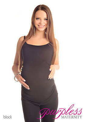Comfy Maternity Spaghetti Strap Top Camisole Vest Size 8 10 12 14 16 18 8010