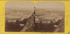 Panorama-de-Cherbourg-France-Photo-Stereo-BK-Paris-Vintage-Albumine-ca-1870
