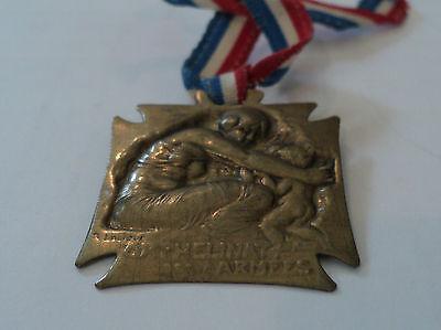 "GORGEOUS ANTIQUE GILT BRONZE ""L I R A"" NEPTUNE MEDAL / AWARD dated 1901"