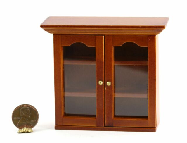 Genial Dollhouse Miniature Cherry Wood Wall Cabinet
