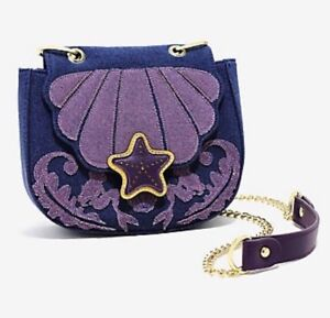 Image is loading Disney-Little-Mermaid-Ariel-Denim-Saddle-Crossbody-Bag- 2309fb6ad2a56