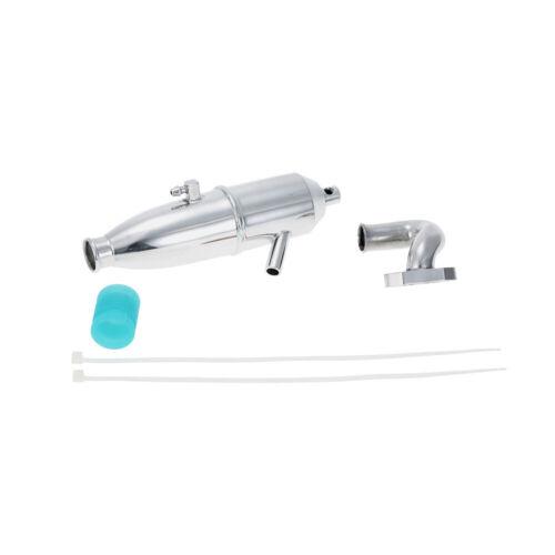 BQ002 Aluminum Upgrade Exhaust Pipe for 1//10 HSP Nitro Car C5U5