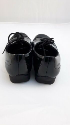 FORMAL  SHOES CLARKS DOLLY UP BLACK PATENT LEATHER GIRLS SCHOOL